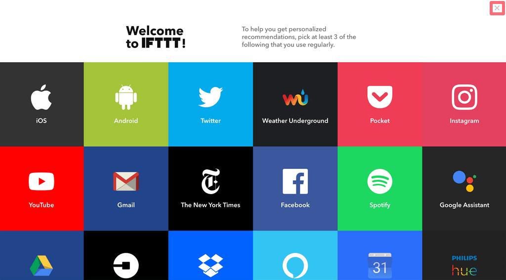 IFTTTのアカウント登録をする